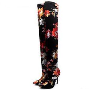 Floral thigh high